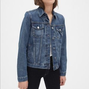 GAP Stretch Denim Jacket Silver Hardwear